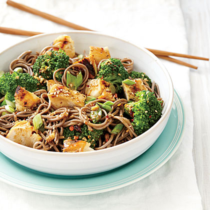 Sweet Sesame Noodles with Chicken and Broccoli