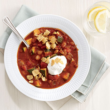 White Bean Chili with Corn Chip Crunch Recipe