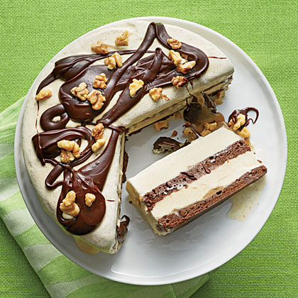 Brownie Ice Cream Sundae Cake