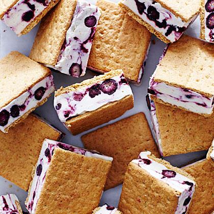 Blueberry Cheesecake Frozen Yogurt Sandwiches Recipe