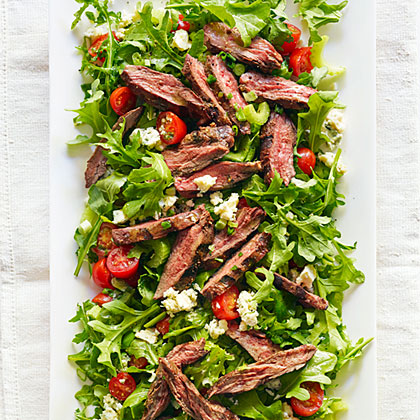 Steak Salad with Tomato and Blue Cheese Recipe | MyRecipes