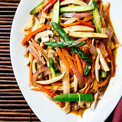 Slivered Vegetable and Tofu Stir-Fry