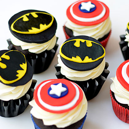 Batman Cupcakes Recipe Myrecipes