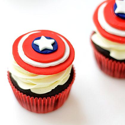 Captain America CupcakesRecipe