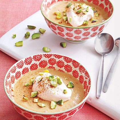 Chai Pudding with Toasted Pistachios