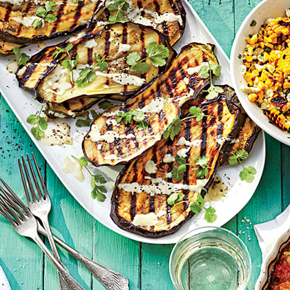 Charred Eggplant with Miso Dressing