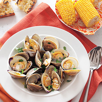 Grilled Clams With Garlic Recipe Myrecipes
