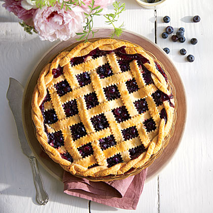 Honey-Balsamic-Blueberry Pie