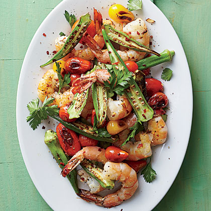 Skillet-Roasted Okra and ShrimpRecipe