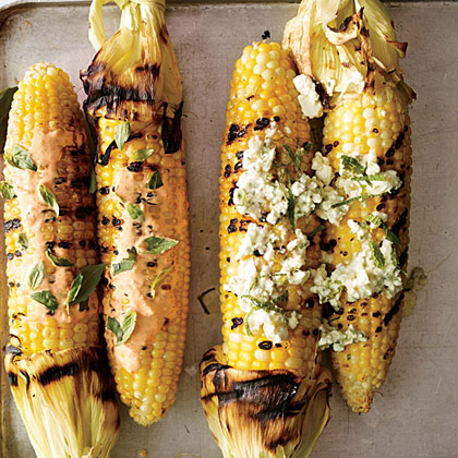 ck-Corn on the Cob with Feta and Mint Butter