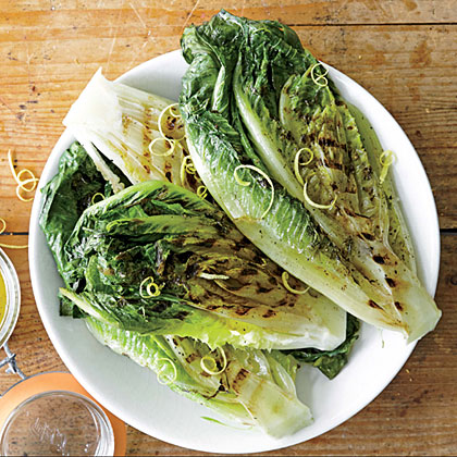 Grilled Romaine Hearts with Pepper