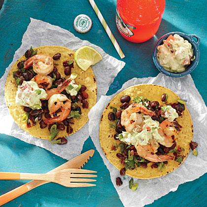 Grilled Shrimp Tostadas with LimeRecipe