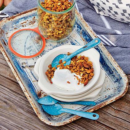 Orange, Pumpkin Seed, and Smoked Almond Granola with Greek Yogurt