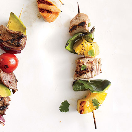 Pork and Pineapple Kebabs Recipe   MyRecipes