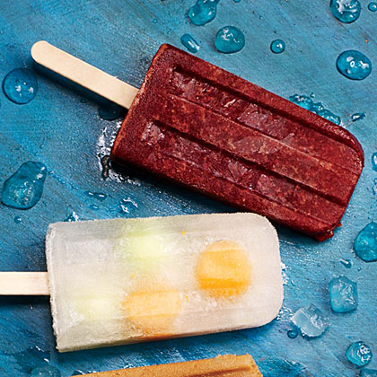 Strawberry-Balsamic Ice Pops