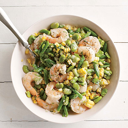 Summer Corn and Shrimp Succotash