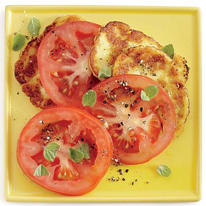 Tomato Salad with Halloumi and Oregano