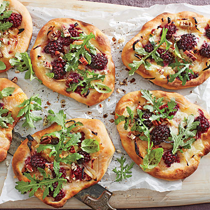 Blackberry Brie Pizzettas