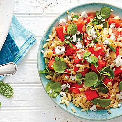 Watermelon-and-Feta Orzo Salad Recipe