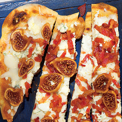 Bacon, Blue Cheese and Fig Pizza