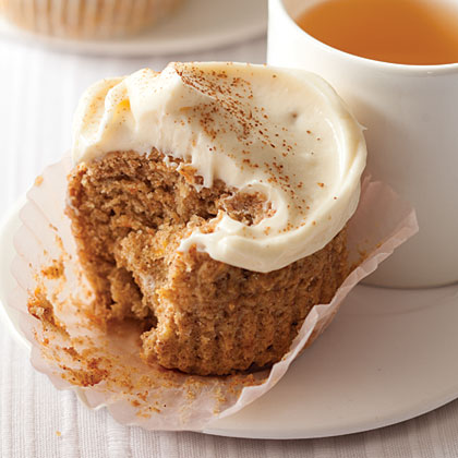 """I came up with this recipe for some health-conscious friends, but it doesn't taste too healthy!""Stephanie Chain, 27, St. Marys, Ga.Whole-Wheat Banana-Carrot Cupcakes Recipe"