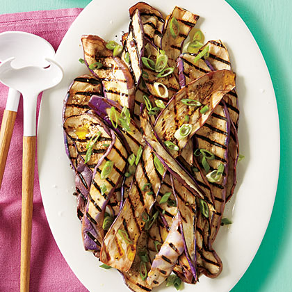 Grilled Eggplant with Yogurt Sauce