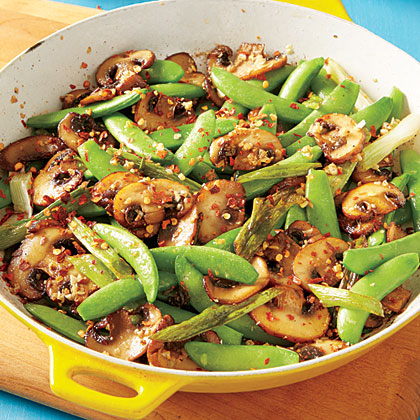 ay-Sugar Snap Pea and Mushroom Sauté