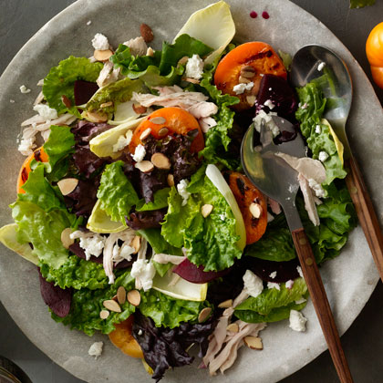 Easy Summer Salad RecipeBoth delightfully healthy and easy, this salad takes just 10 minutes to put together. Using a precooked rotisserie chicken shaves off some time, while adding substance to this light dish.