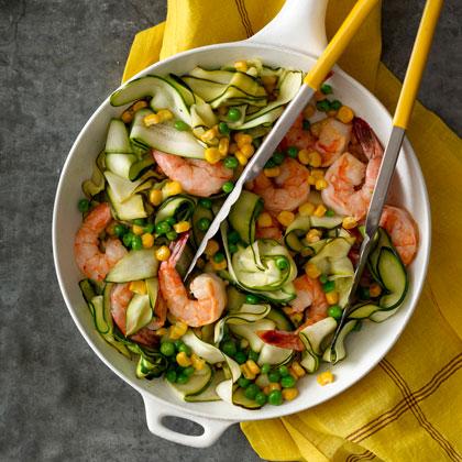 Zucchini  Pasta  with Shrimp