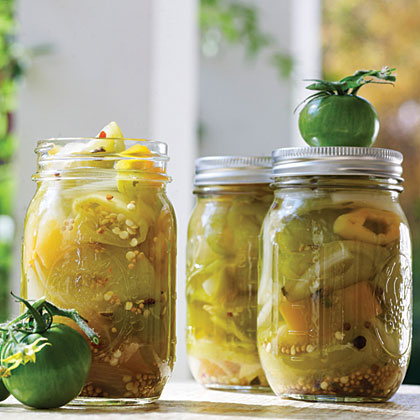 Green Tomato-Hot Pepper Pickles
