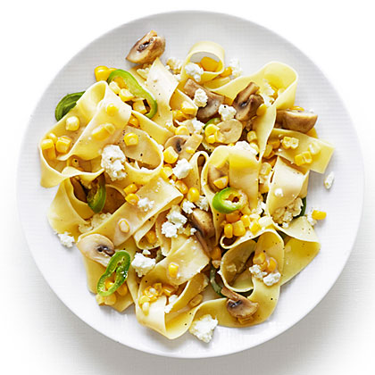 Pappardelle with Corn and Feta