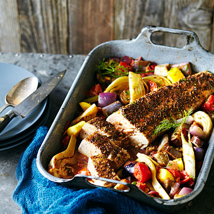 Tuna Roast with Ratatouille
