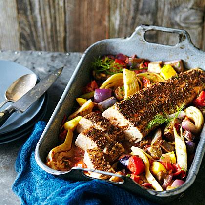 Tuna Roast with Ratatouille