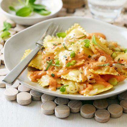 Light Four Cheese Ravioli with Pumpkin Sage Sauce