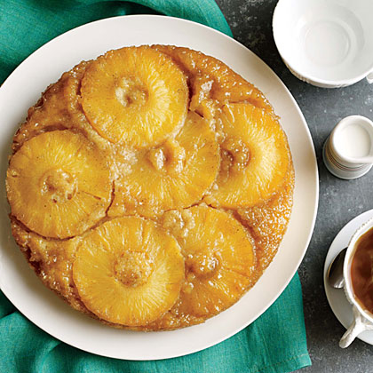 <p>Caramelized Pineapple Upside-Down Cake</p>