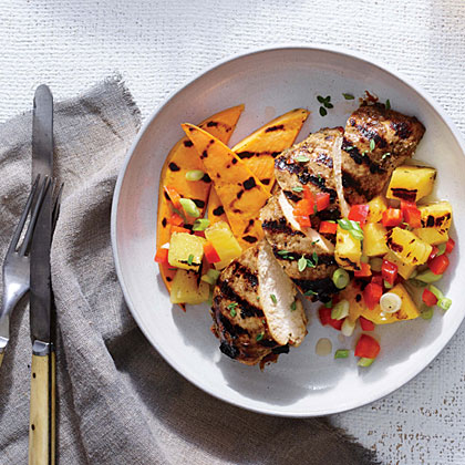 Jerk Chicken With Grilled Pineapple Salsa Recipe Myrecipes
