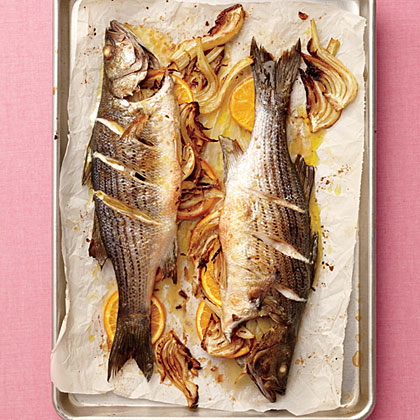 Roasted Orange-Fennel Striped Bass