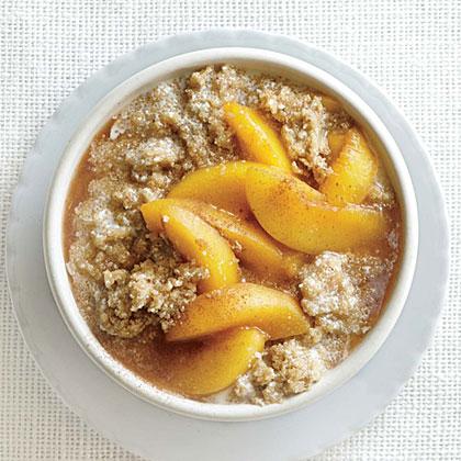 Vanilla Amaranth with Peach Compote