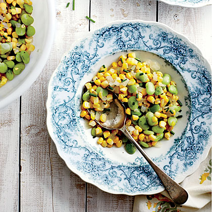 Old-Fashioned Succotash RecipeSuccotash is a classic Southern side dish primarily made with corn and lima beans. Feel free to add whatever is fresh from the garden; tomatoes and bell peppers make nice additions.