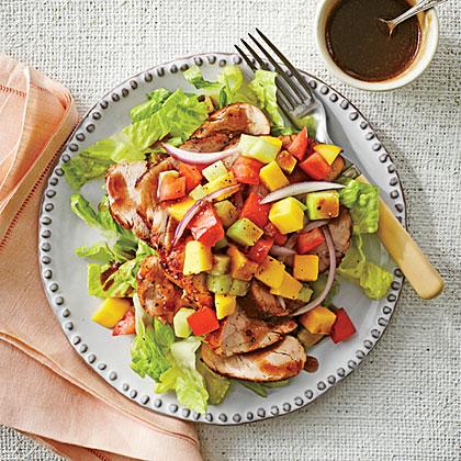 Pork, Mango, and Tomato Salad