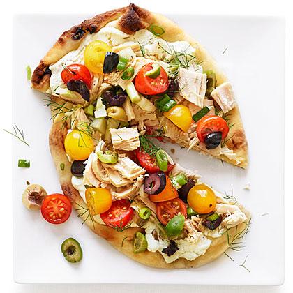Nicoise Pizzas