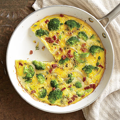 Broccoli, Pancetta, and Parmesan Frittata
