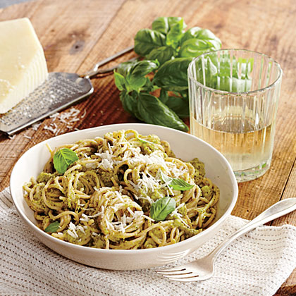 <p>Broccoli and Pecorino Pesto Pasta</p>