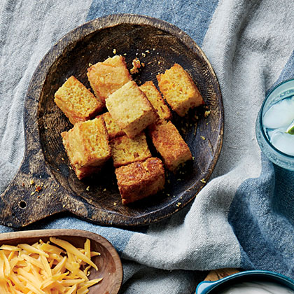 Cheesy Corn Bread Croutons