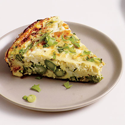 Feta, Green Onion, and Asparagus Frittata