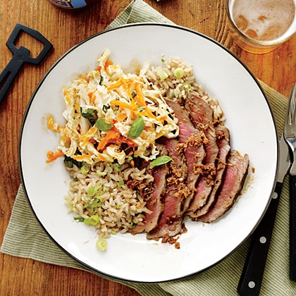 Ginger Steak and Sesame Brown Rice