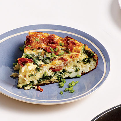 Spinach, Ham, and Gruyere Frittata