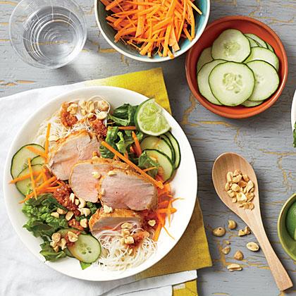 Vietnamese Barbecue Pork and Noodle Salad