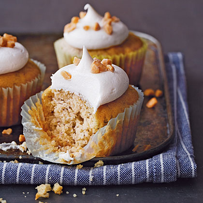 Celebrate Friday! Sticky, sweet, and bursting with bananas, these cupcakes provide the perfect antidote for the after-school munchies.Banana-Toffee Cupcakes Recipe