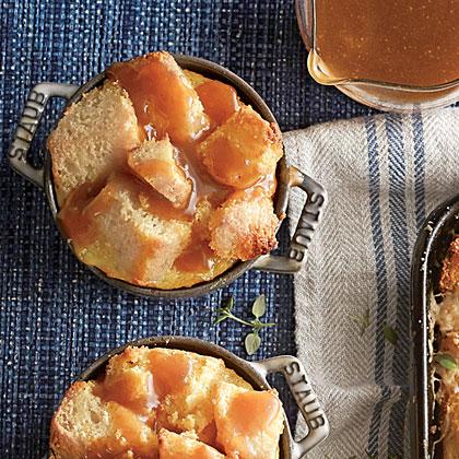 Cornbread Pudding with Whiskey Caramel